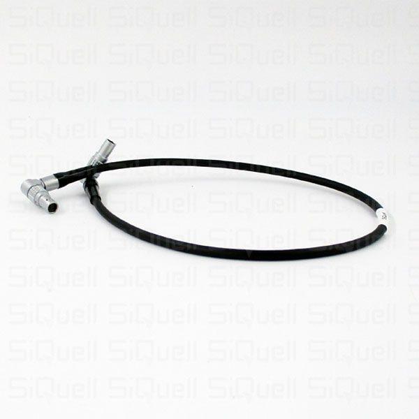 SiQuell – Powercable for Teradek Lemo 2-pin (angled) / Lemo 2-pin (angled) 0.5m